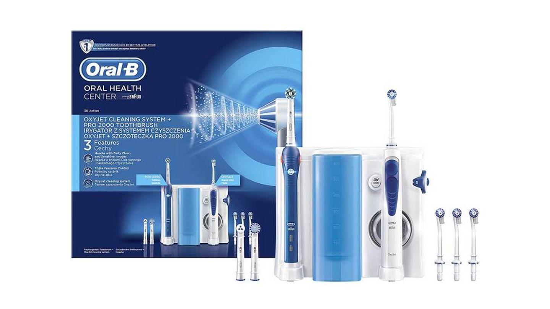Cepillo eléctrico más irrigador con tecnología Braun Oral-B