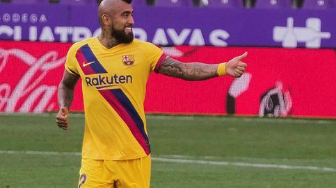 El Barcelona sobrevive en Valladolid quejándose del árbitro y dando angustia