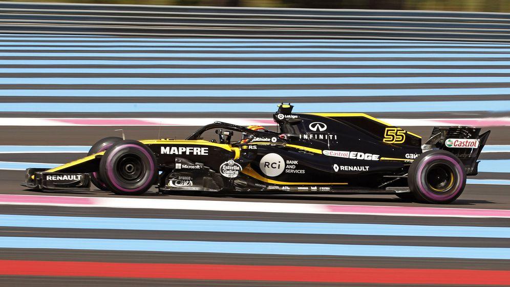 Foto: Un fallo de potencia en su RS18 evitó que Sainz acabara sexto. (EFE)