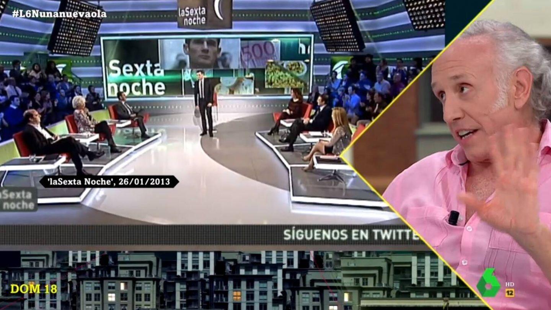 Eduardo Inda contestando al presentador. (La Sexta).