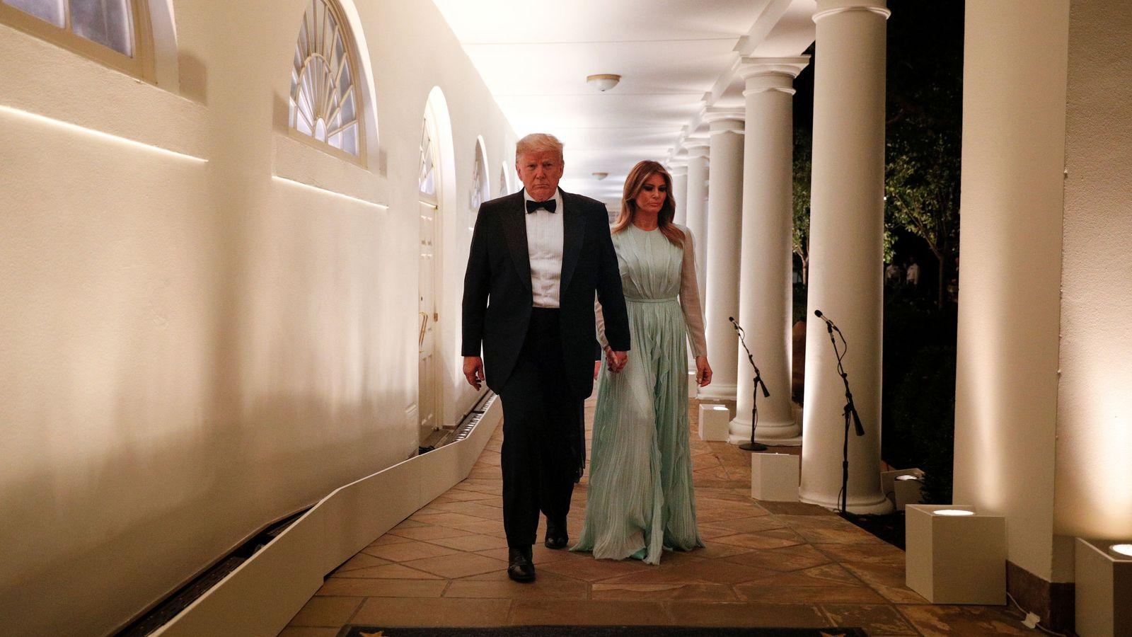Foto: Donald y Melania Trump, en la Casa blanca. (Reuters)
