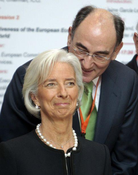 Lagarde con el presidente de Iberdrola (Reuters)