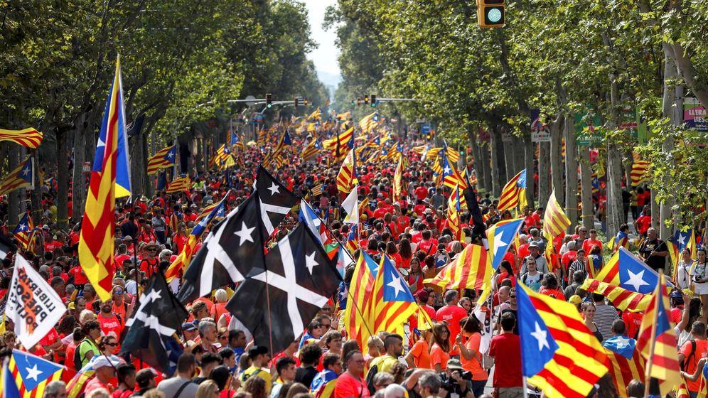 Foto: Grupo de manifestates que acudieron a la pasada edición de la Diada. (EFE)