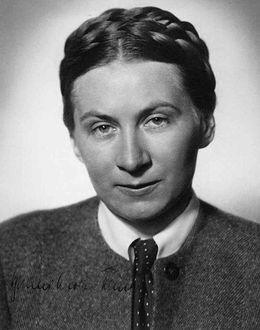 Foto: Gertrud Scholtz-Klink fue una de las mujeres más importantes del Tercer Reich.