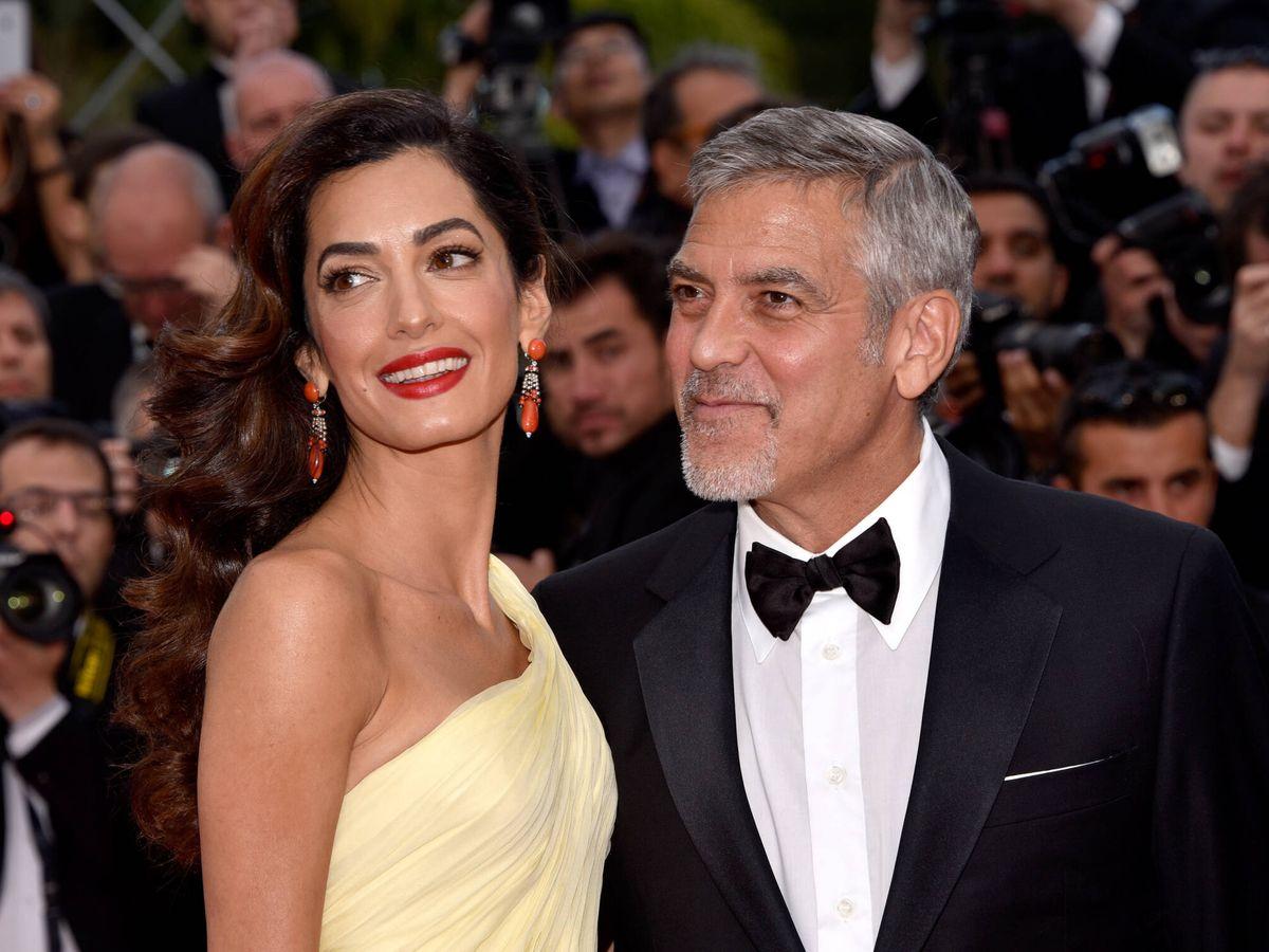 Foto: Amal y George Clooney, en el Festival de Cannes. (Getty)