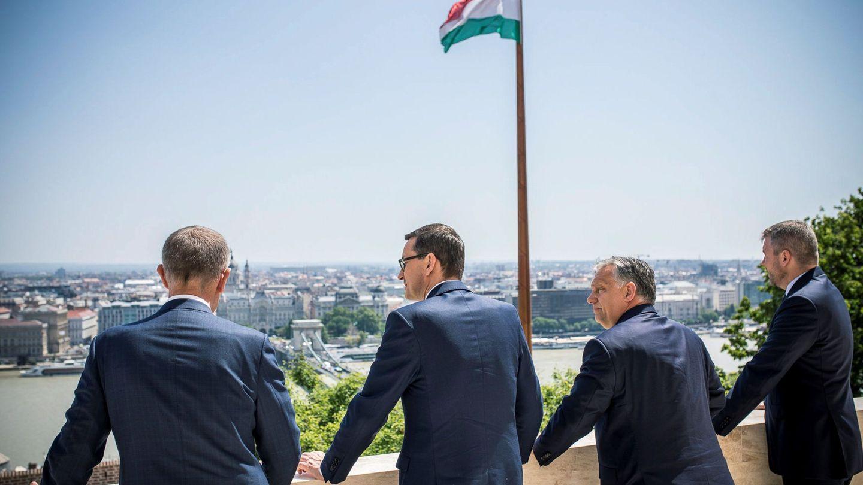 Los cuatro primeros ministros del grupo Visegrado. (EFE)