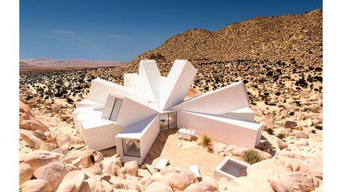 Vivir en contenedores en mitad del desierto puede ser así de 'cool'