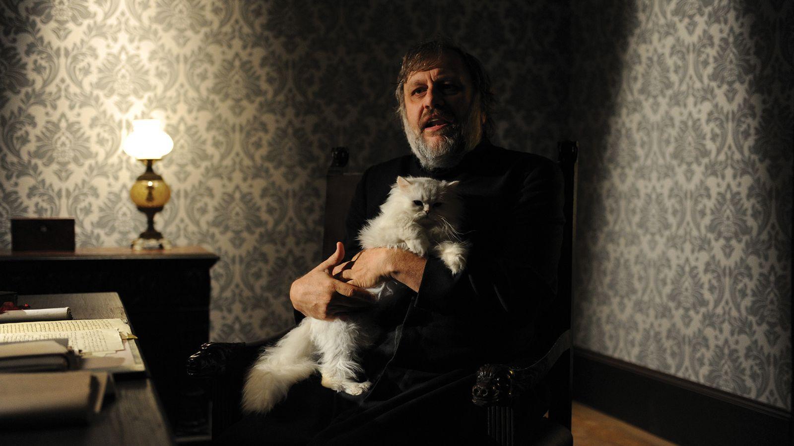 Foto: Slavoj Zizek en un documental de Sophie Fiennes