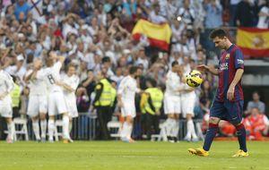 Con un Messi gris en el Bernabéu, el récord de Zarra continúa intacto