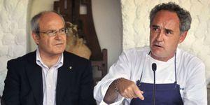 Adrià presenta junto a Montilla su proyecto para ayudar al turismo catalán a salir de la crisis
