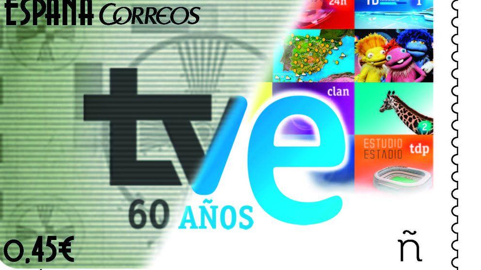 Los 60 años de TVE en un sello