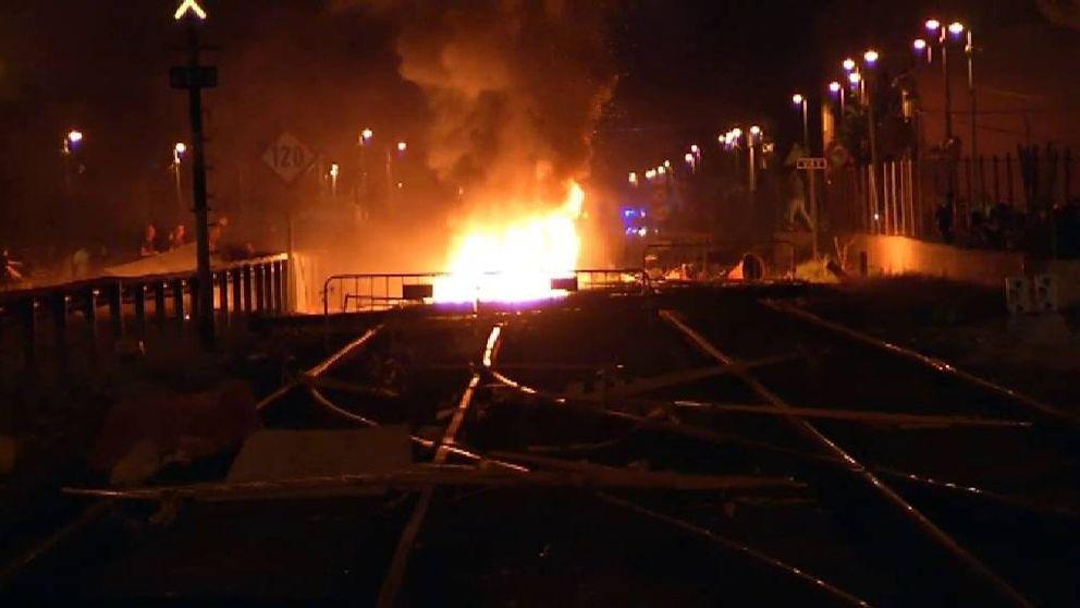Graves disturbios en las protestas por las obras del AVE en Murcia