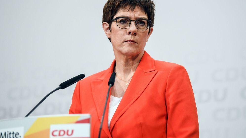 Foto: La líder del partido CDU, Annegret Kramp-Karrenbauer. (EFE)