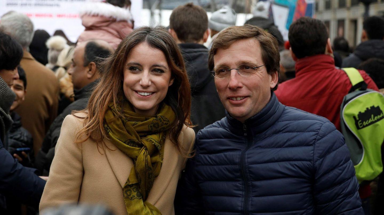 José Luis Martínez-Almeida y Andrea Levy. (EFE)
