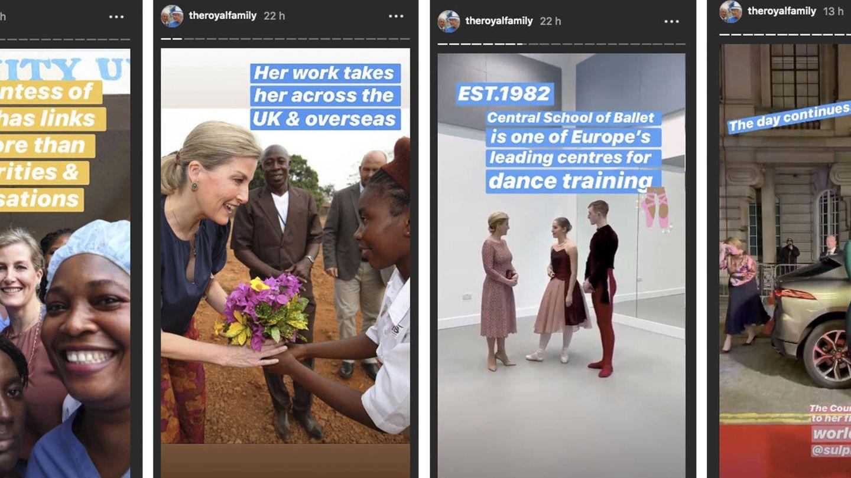 'Promoción' de Sophie de Wessex en el Instagram de Buckingham. (@royalfamily)
