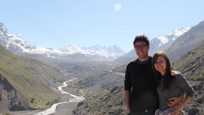 Sara y Santacruz en uno de sus viajes por el país chileno.