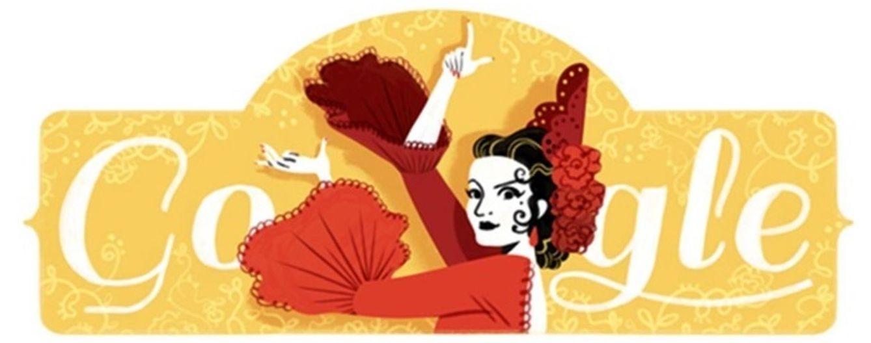 Foto: Google homenajea a Lola Flores con un doodle sobre ella