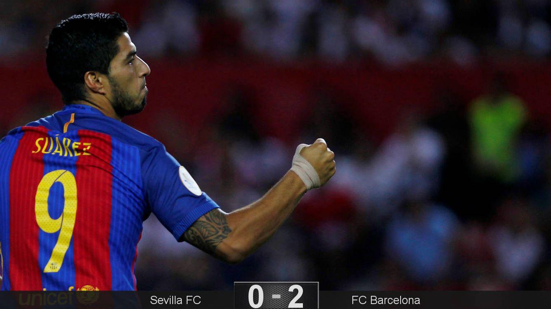 Foto: Suárez anotó su primer gol oficial (Reuters).