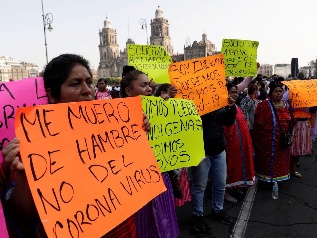 Foto: Las poblaciones más pobres ya notan la hambruna, como este grupo indígena mexicano. (Reuters)