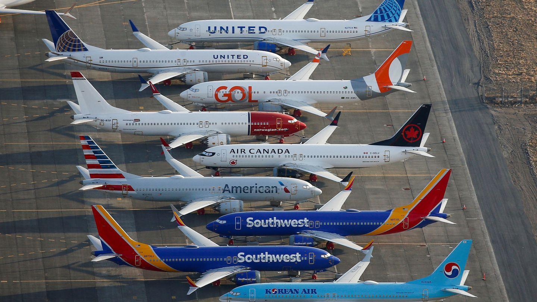 Varios Boeing 737 MAX en el International Airport de Moses Lake, en Washington. (Reuters)