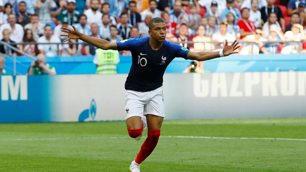 Foto: Mbappé fue la gran estrella del Francia-Argentina de octavos de final del Mundial. (Reuters)
