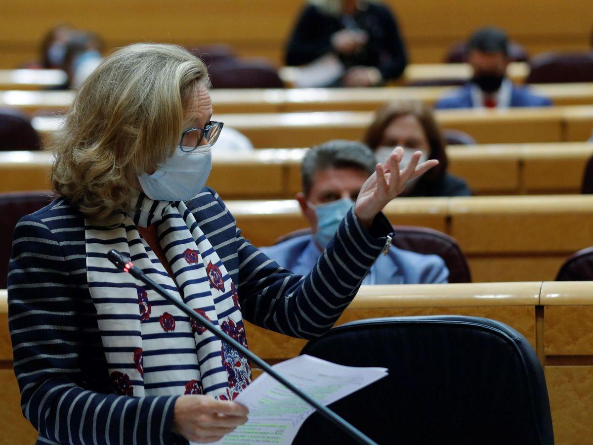 Foto: La vicepresidenta tercera del Gobierno y ministra de Asuntos Económicos y Transformación Digital, Nadia Calviño (EFE)