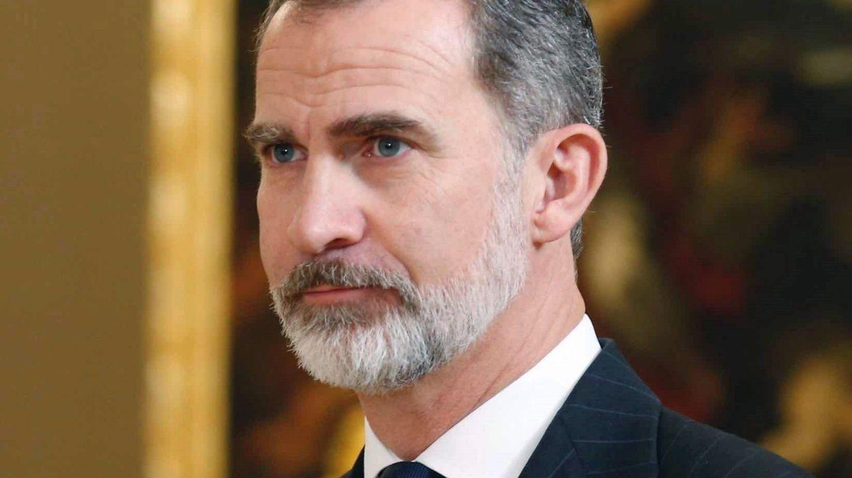 El rey Felipe VI, con la barba algo menos arreglada. (EFE)
