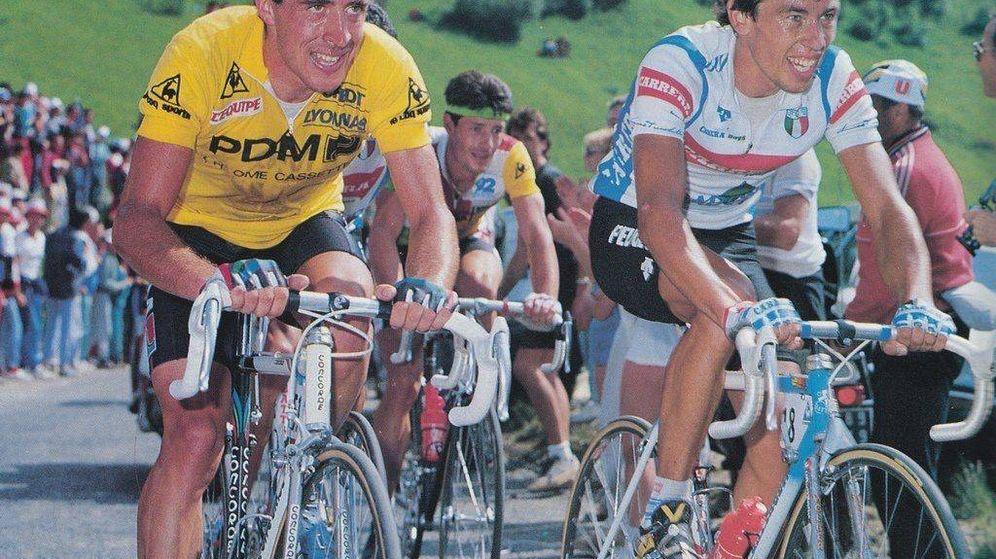 Foto: Pedro Delgado, durante el Tour de Francia de 1987. (Archivo)