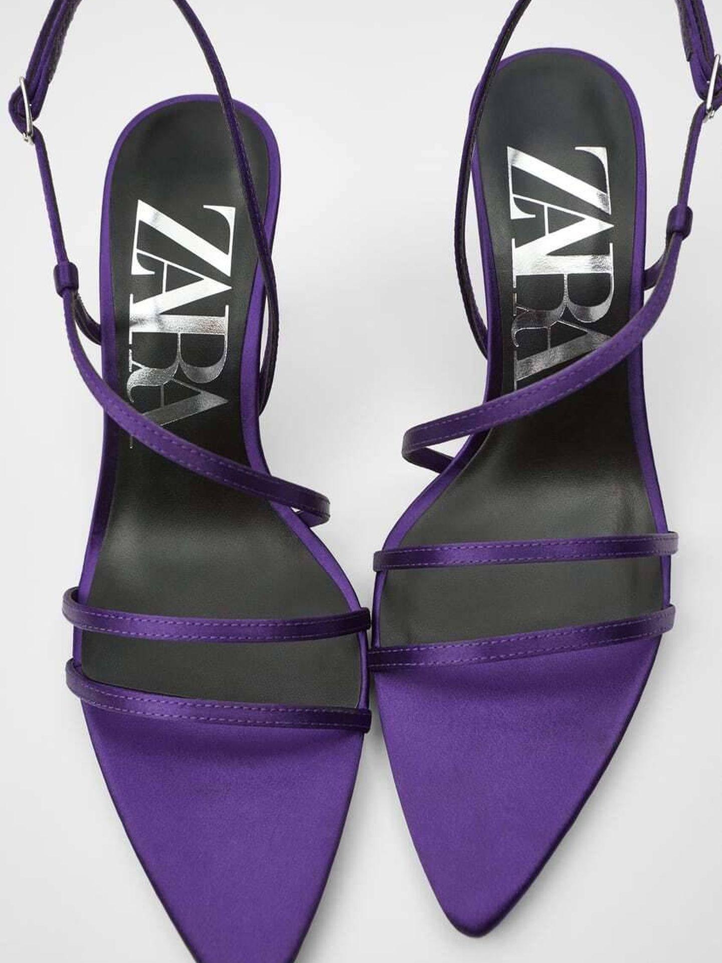 Sandalias de Zara. (Cortesía)