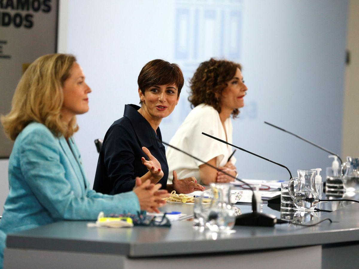 Foto: Rueda de prensa posterior al Consejo de Ministros. (EFE)