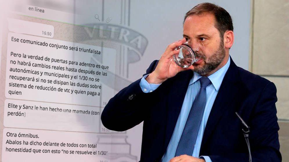 Foto: El ministro de Fomento, José Luis Ábalos. (EFE/Montaje: C. Castellón)