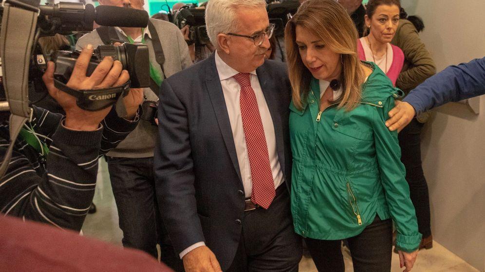 Foto: Susana Díaz tras los resultados de las elecciones. EFE
