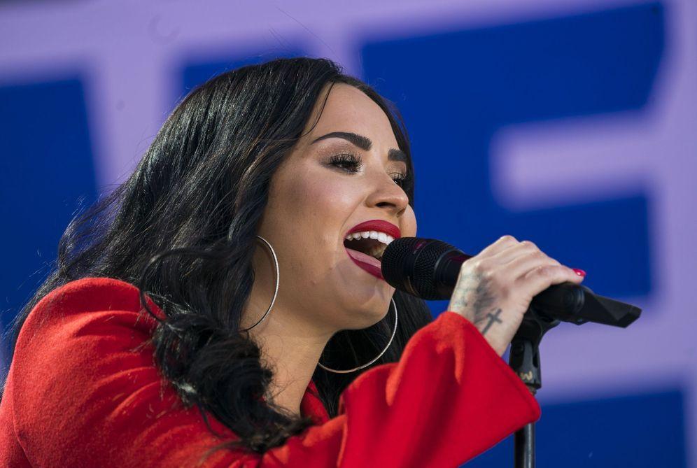 Foto: Demi Lovato durante un concierto. (EFE)
