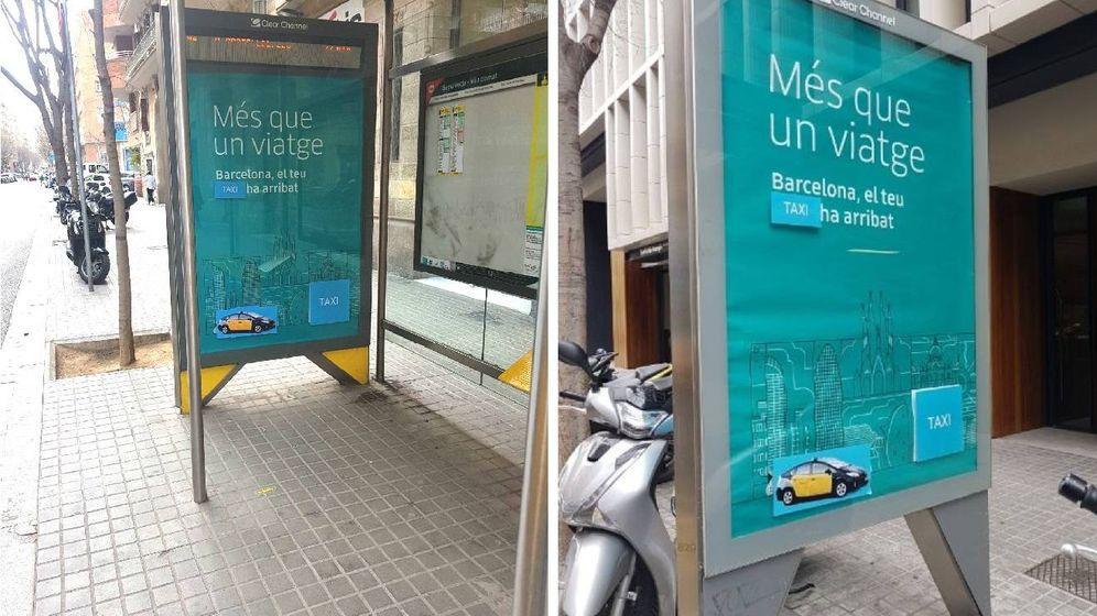 Foto: Marquesinas boicoteadas en Barcelona