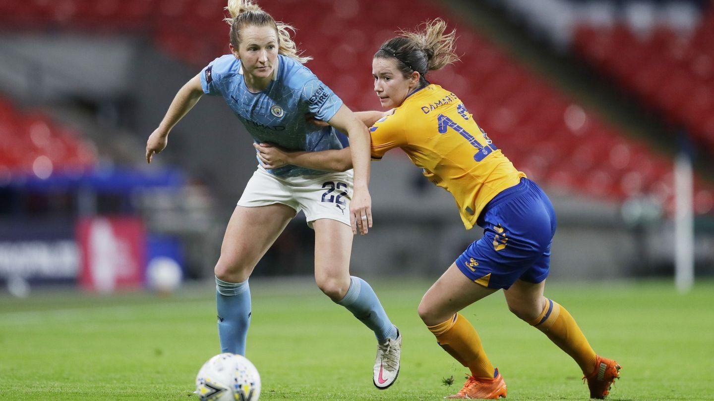 Damaris Egurrola, en la Women's FA Cup Final contra el Manchester City en Wembley. (REUTERS)