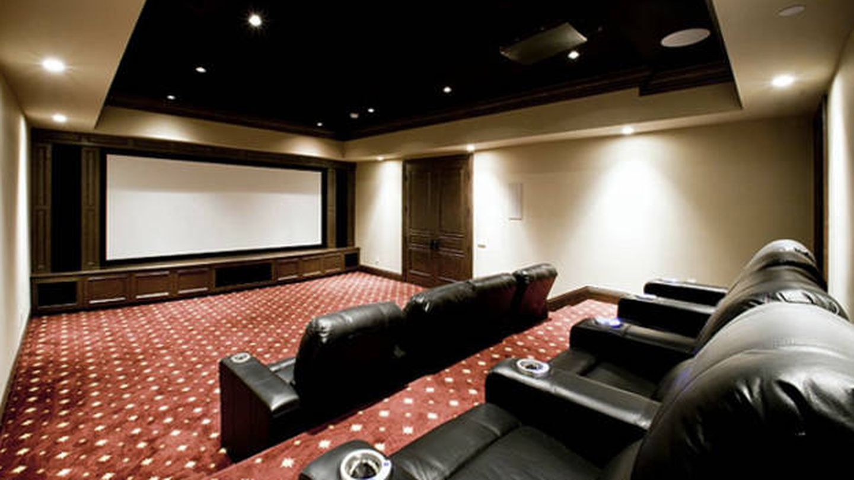 Sala de cine de la casa de Feige.