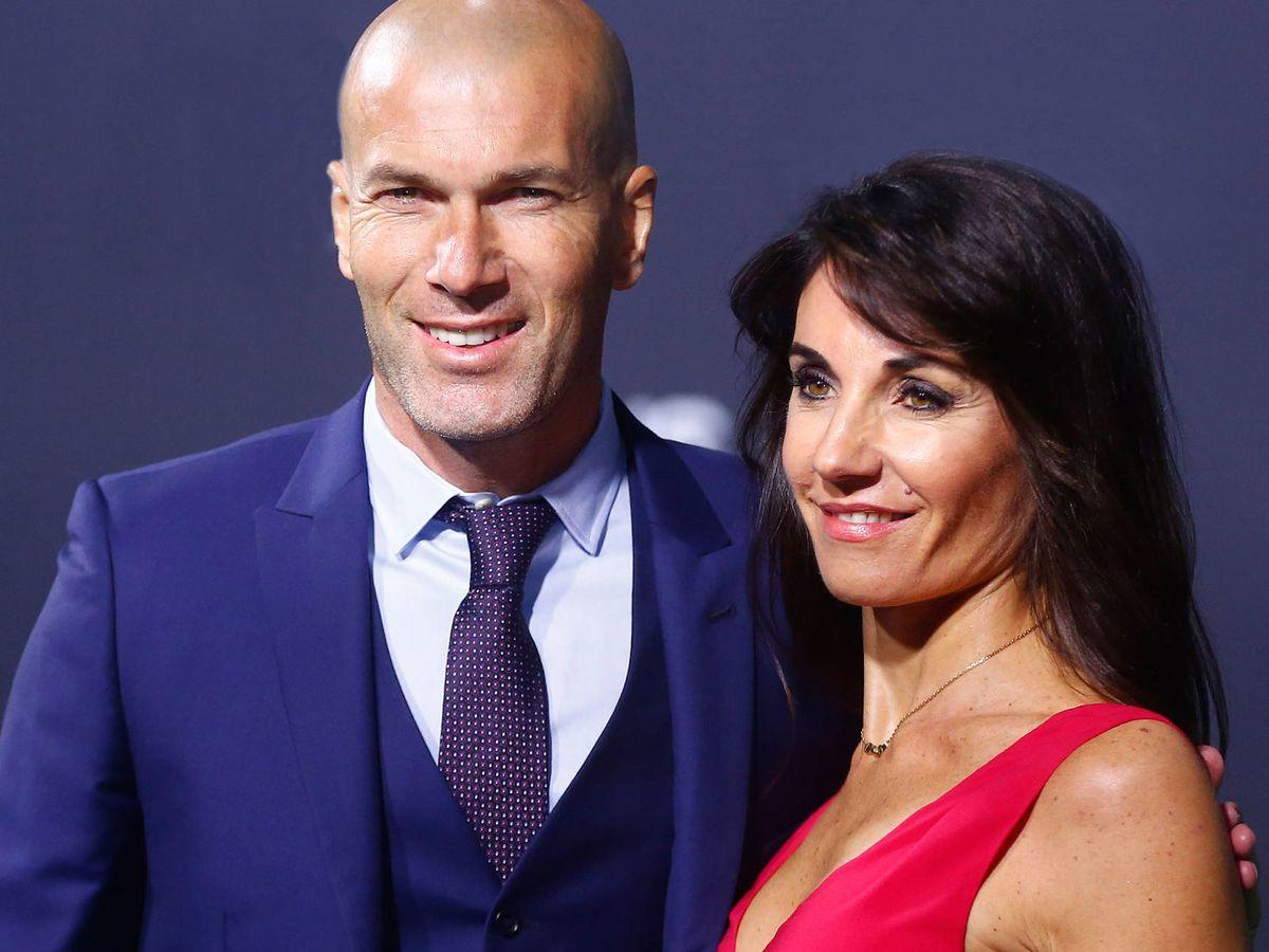 Foto: Zinédine Zidane y su esposa, Véronique Fernández. (Getty)