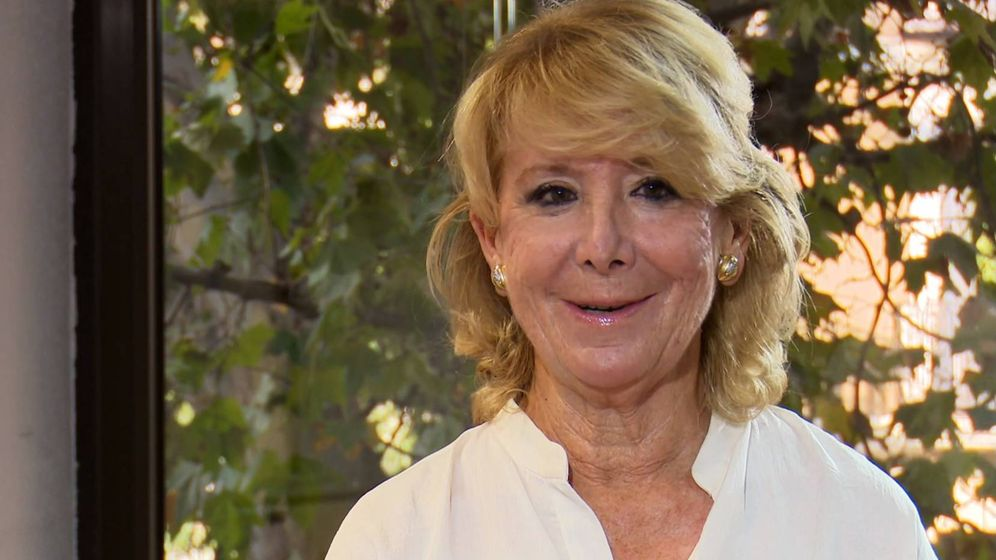 Foto: Esperanza Aguirre, en 'La Sexta columna'. (Atresmedia).
