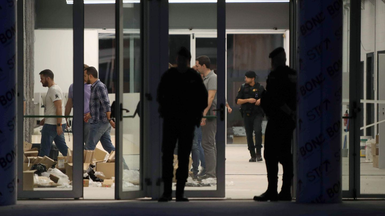 El Centro de Telecomunicaciones y Tecnología de la Información (CTTI) fue intervenido por la Guardia Civil durante el 1-O. (EFE)