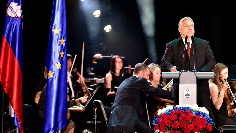 Orban durante la celebración del 30 aniversario de Eslovenia hace unos días (EFE)