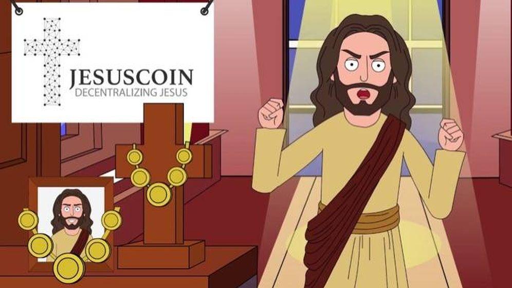 Foto: Imagen promocional del jesuscoin. (jesuscoin)
