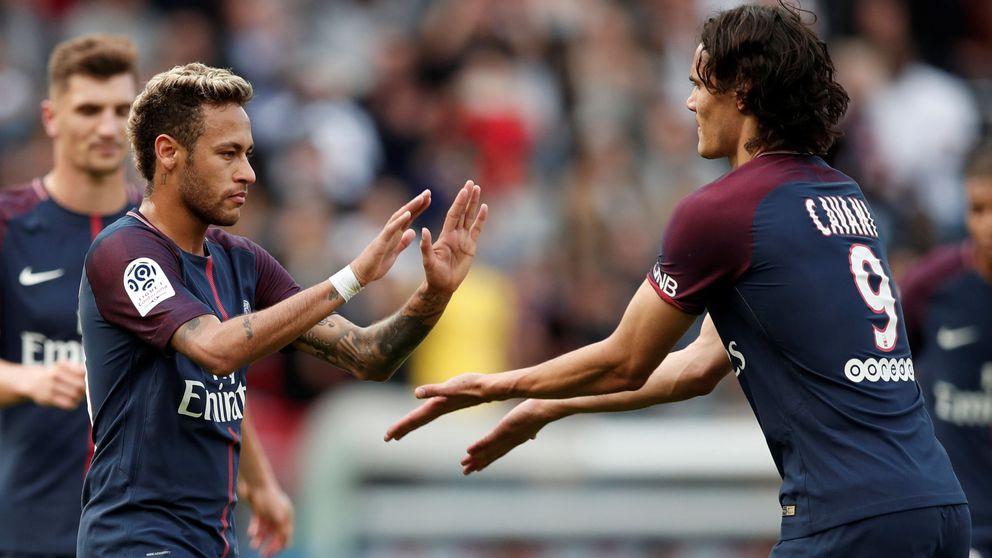 Neymar lanza un penalti y hace las paces con Cavani en la goleada del PSG