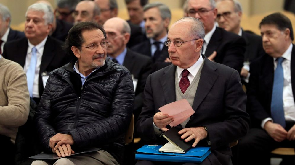 Foto: Principales acusados del caso Bankia, durante la celebración del juicio. (EFE)