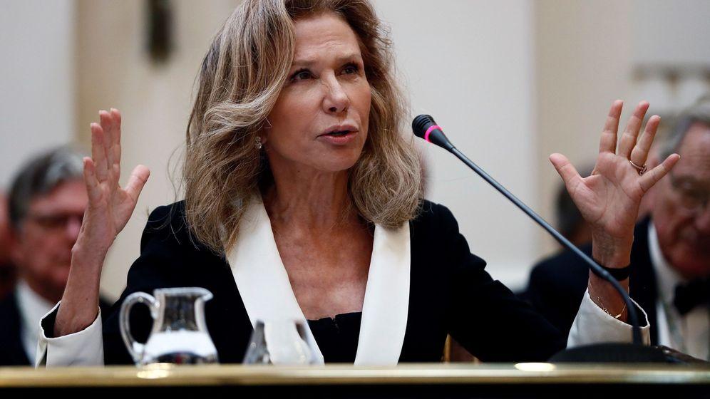 Foto: Alicia Koplowitz , durante el discurso que pronunció en la Academia de Bellas Artes de San Fernando. (EFE)