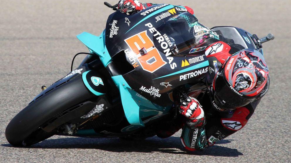Proeza de campeón: cómo Quartararo pasó de la clínica a la pole en Aragón