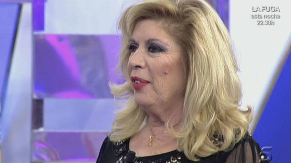 Foto: María Jiménez en 'Sálvame'. (Telecinco)