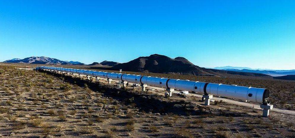 Foto: La primera pista de pruebas de Hyperloop en Estados Unidos toma forma