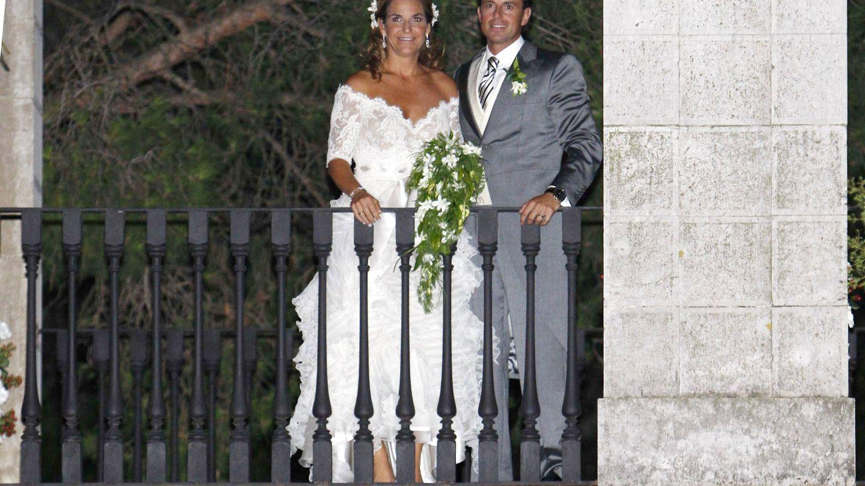 Arantxa Sanchez Vicario y Santacana durante su boda. (Getty)
