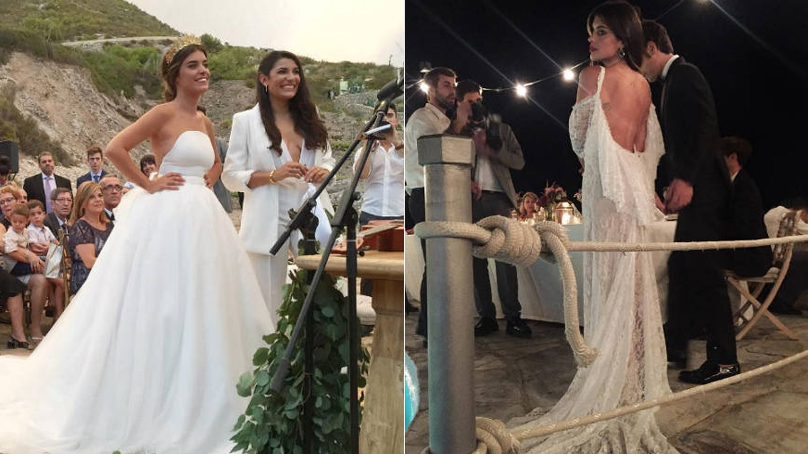 Vestido De Novia Wedding Dress | La Romantica Boda De Dulceida Quiero Ser Y Su Novia Junto Al Mar