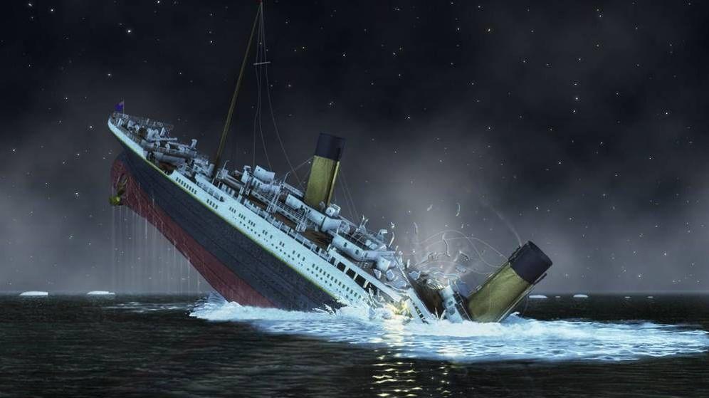Foto: Recreación del hundimiento del Titanic (National Geographic Society/Corbis)